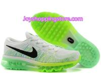 Nike flyknit air max white green sneaker sale at 69usd,