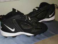Nice black nike football cleats size 12 are in great
