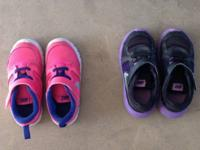 Toddler girl size 9 for both In great condition Neon
