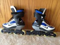 For sale is a pair of Nike Zoom Air Carbon Rollerblades