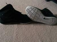 All black nike shoes size 7y barley worn. I will ship