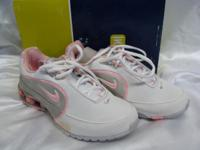 New in the box Nike white and pink walking/training