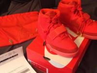 Nike Air Yeezy 2 Red October Size 9.5 Worn one time