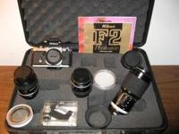 35 MM Nikon F-2 with 4 lenses and misc. filters lens #1