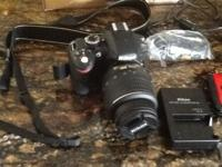 Brand New Nikon Camera D3200. All accessories. Case,