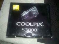 Nikon Coolpix S3000 camera, new in box, never used!