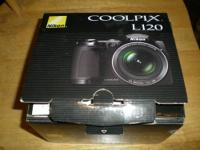 Nikon Coolpix L120 Digital Camera (No Charger)