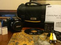 Video camera, Nikon case, lugging strap, 3 4GB storage