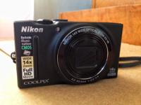 I'm selling my Nikon COOLPIX s8200 with charger