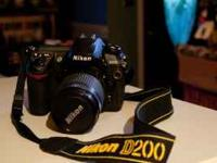 I have a Nikon D200 camera with Nikon Lens, battery and