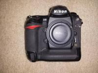 Nikon D3 Camera Body. Works perfectly well. Has about
