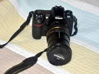 NIKON D300 BODY,VERY CLEAN (9.5 out of 10), TAMRON
