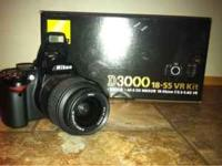 nikon d3000 in great condition Still have the box and