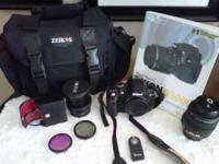 Nikon D3000 10.2MP digital SLR camera with 18-55mm