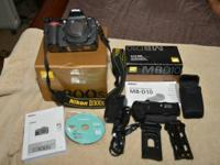 $1100   Nikon D600 (2061 actuations) with battery &