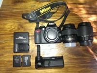I'm selling my Nikon d3100 and everything you see here