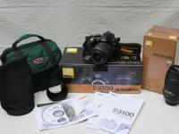 - For Sale -. Nikon D3100 Camera with Zoom Lens and