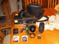 I�m selling my Nikon D3200 18-55 VR Kit plus extras. I
