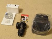Selling my Nikon D3200 DSLR kit with 18-55mm VR Lens.