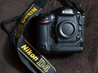 For sale is the fantastic Nikon D4 cam body. This