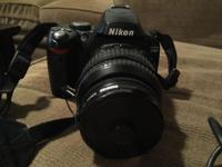 I am selling a used Nikon D40 camera. It is in good