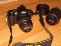 D40X with instruction manual, quick start guide, and