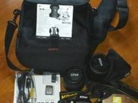 Selling nikon d5100 dslr video camera with DX af-s