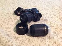 Offering dslr Nikon D5100. It comes with battery,