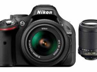 Nikon D5200 24.1 MP DSLR Camera, 18-55mm & 55-200mm VR