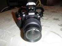 For sale is a Nikon D60 10.2 MP digital SLR camera.  It