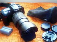 This kit comes with a Nikon D90 camera, 18-105 mm