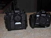 Nikon F4 Camera body with a MB-21 battery pack. Great