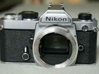 NIKON FM 35MM FILM, CAMERA BODY ONLY. FM 2608974.