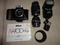 Need to sell Nikon camera plus accessories. All parts