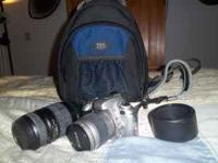 Nikon N55 SLR Camera 28-80 mm lense 70-300 mm lense Sun