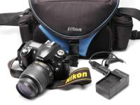 Nikon D50 body with 18-55MM VR G zoom lens...with