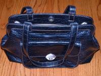 Nice black alligator look purse. Pocket on one side