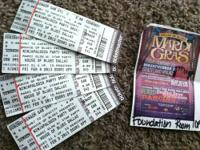 I have 4 tickets to the Mardi Gras NinjaPalooza Show