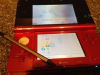 Selling a fire red 3ds system comes with the original