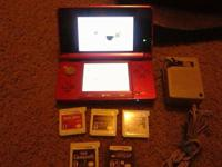 I have Nintendo 3DS Red Flame with games for sale, if
