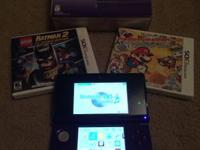 Nintendo 3ds (purple) with games  Asking $140  -Paper