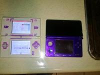 For sale Nintendo 3ds purple for parts or repair, the