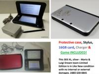 Protective case, Stylus, 16GB card, Charger and 1 Game