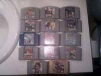 I have 14 N64 games for sale. 6 of the games are