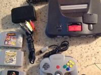 Selling the following:  Nintendo 64 w/ expansion pack,