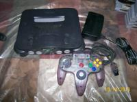 N-64 console all cables and 1 controller and the