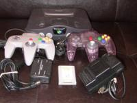 Nintendo 64 with accessories 2 controllers Nintendo 64