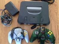 Looking to sell this old nintendo 64 with 2