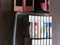 Pink Nintendo DS, travel case and 16 games!  $60 takes