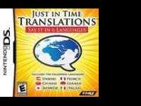 NINTENDO DS - JUST IN TIME TRANSLATION - SAY IT IN 6
